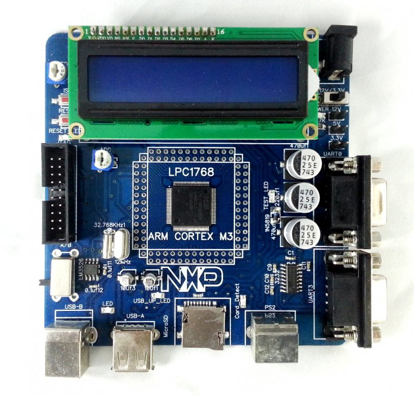 Picture of LPC1768 CORTEX M3 NXP Development Board