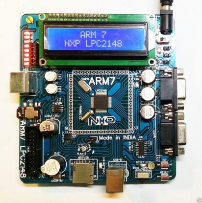Picture of LPC2148 ARM 7 NXP Development Board