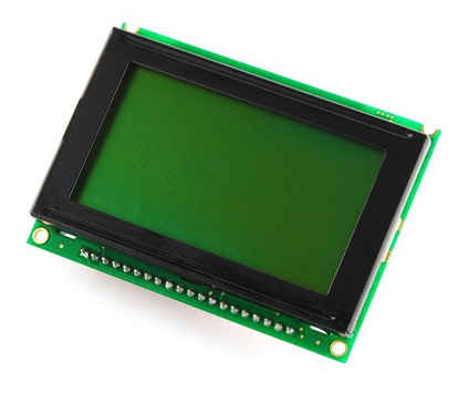Picture of 128x64 Green LCD