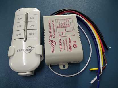 Picture of 4 CH/1000W Wireless Remote Switch
