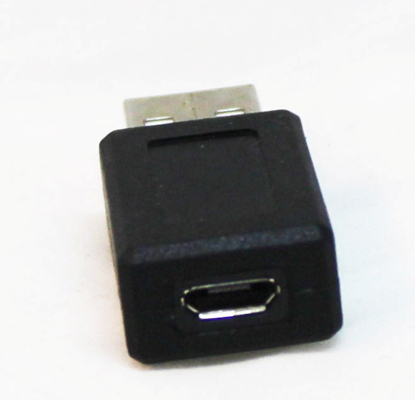 Picture of USB A Male to Micro USB Female Adapter Connector